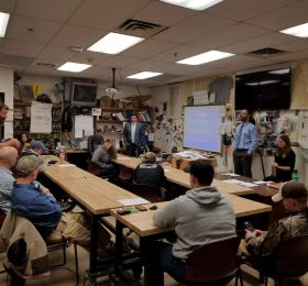 Environmental Protection Division attorneys visit two classes at Hartford Area Career and Technical Center's Natural Resources Program